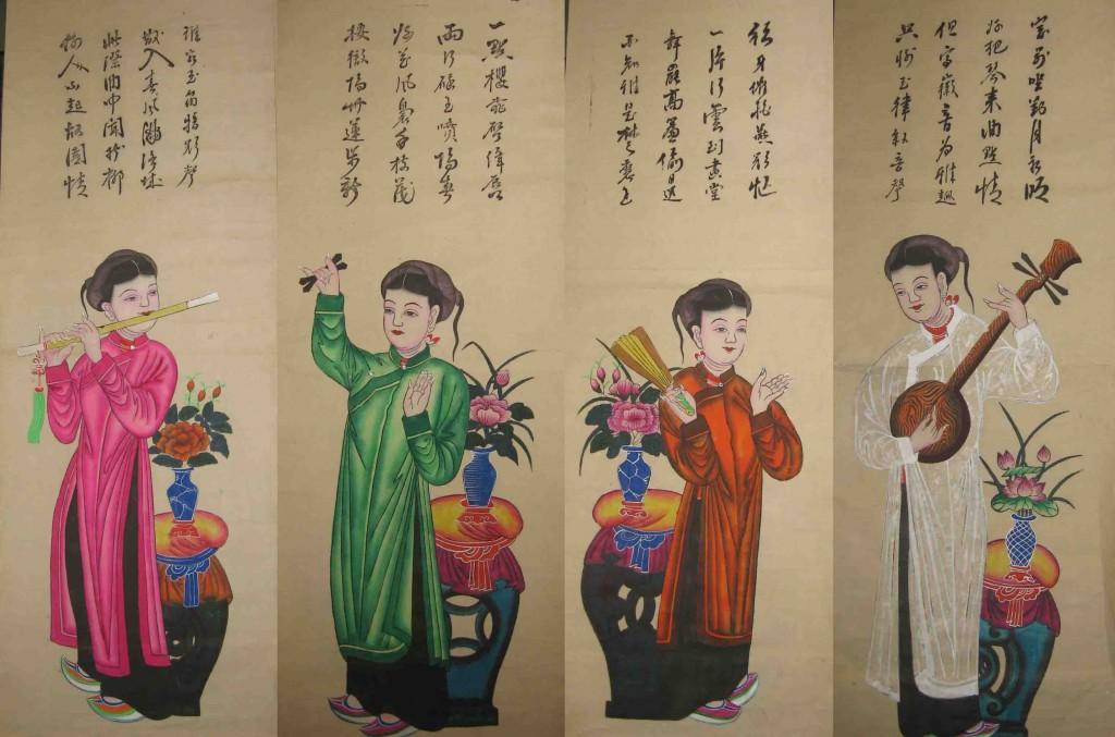 peinture-vietnamienne-folklorique