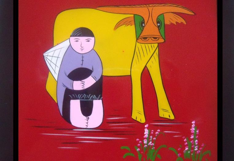 Peinture-vietnamienne-sur-laque