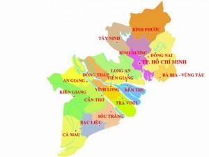 La carte du sud
