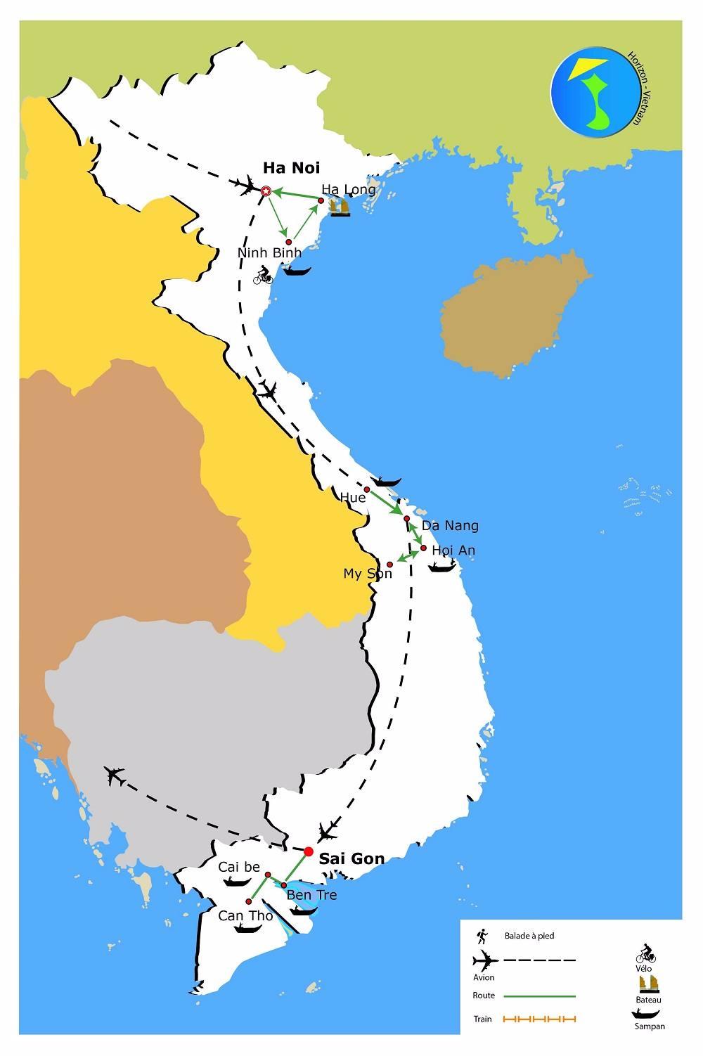 carte-circuit-le-vietnam-dans-son-ensemble-13-jours