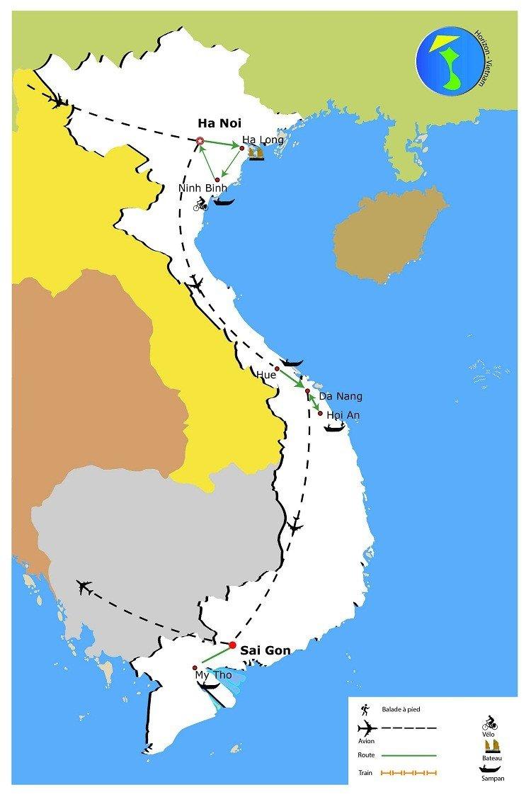 carte-circuit-vietnam-essentiel-10-jours
