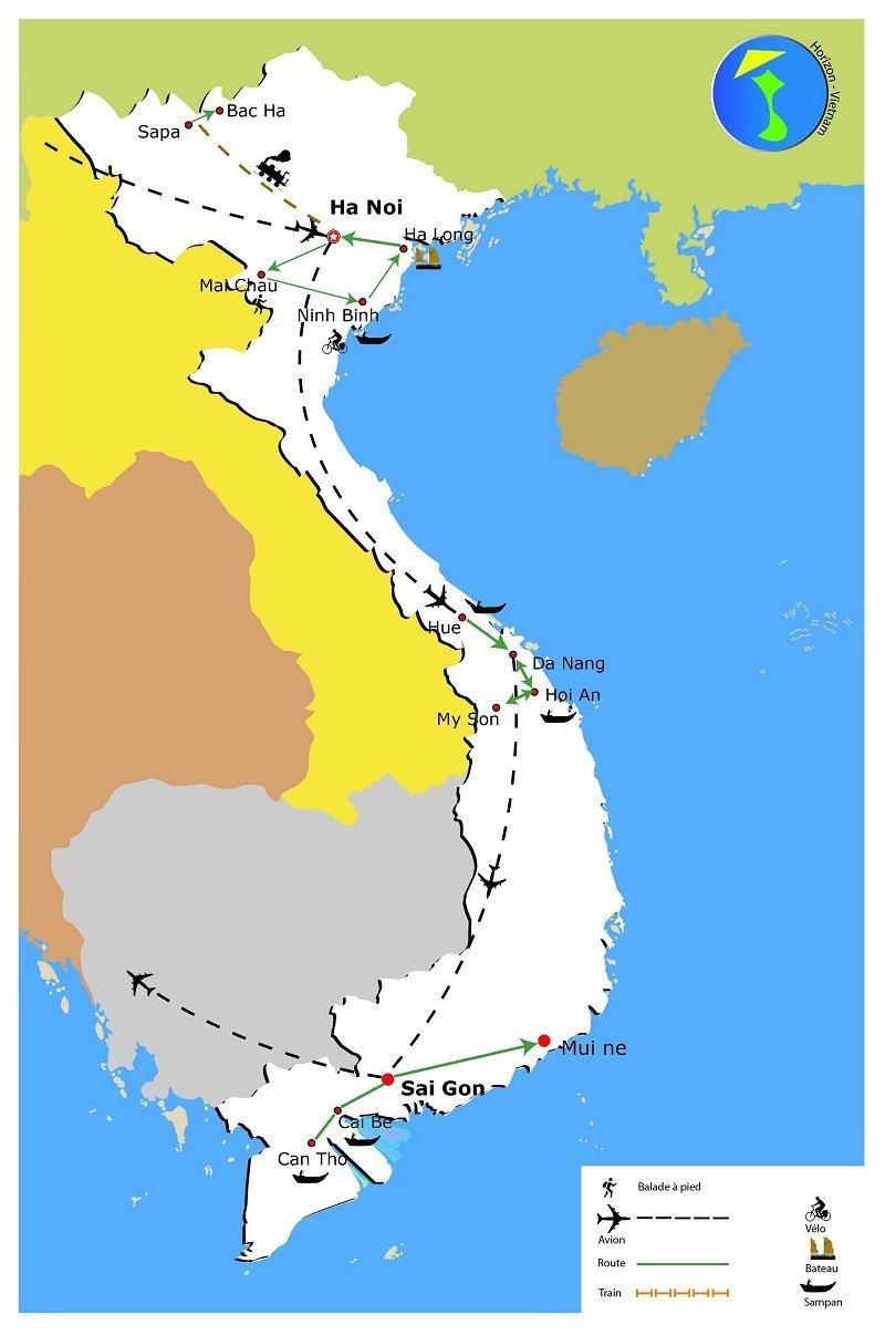 carte-circuit-vietnam-tel-qu-il-est-19-jours