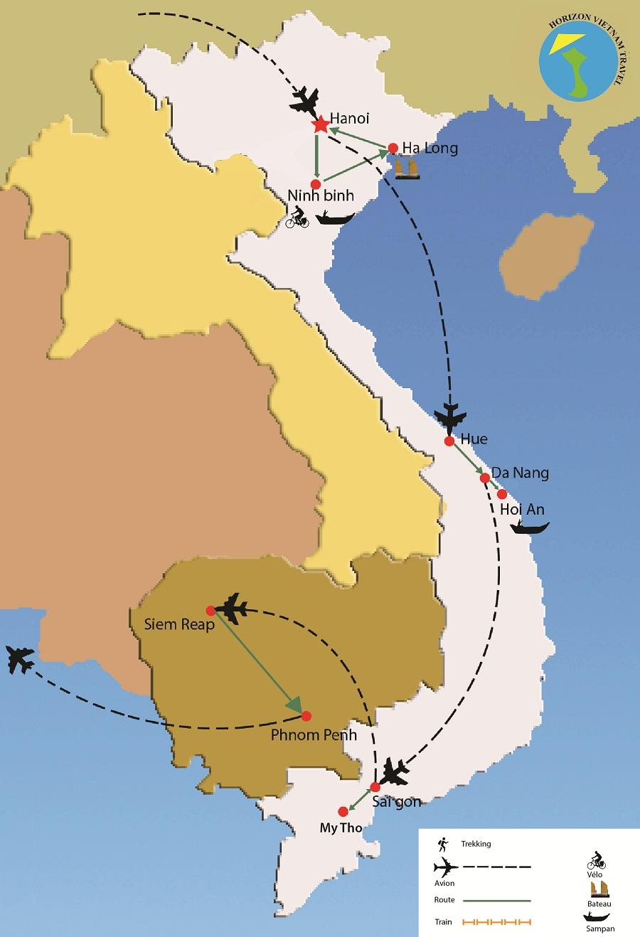 voyage vietnam cambodge 18 jours