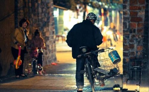 le soir dans hanoi capitale