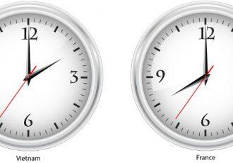 fuseau horaire decalage horaire du Vietnam