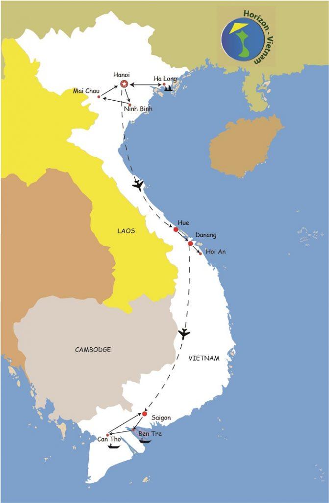 Ciruit Vietnam en 2 semaine