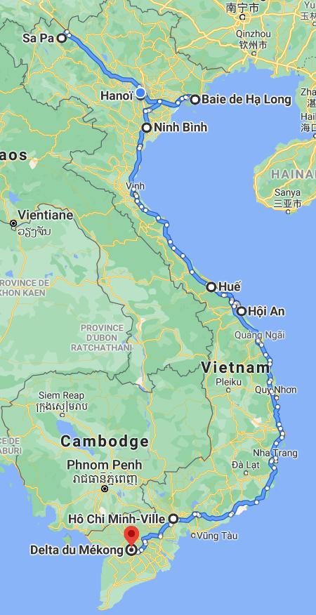 carte-vietnam-nord-sud